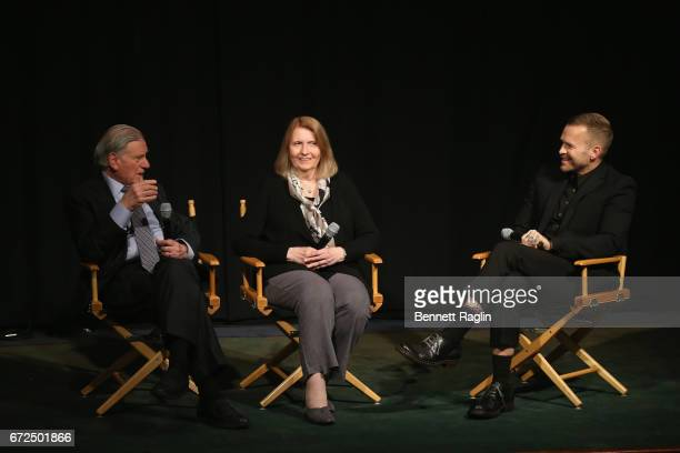 Director of Mount Sinai Heart and PhysicianinChief of The Mount Sinai Hospital Dr Valentin Fuster MD PHD Director Susan Froemke and host Bob Harper...