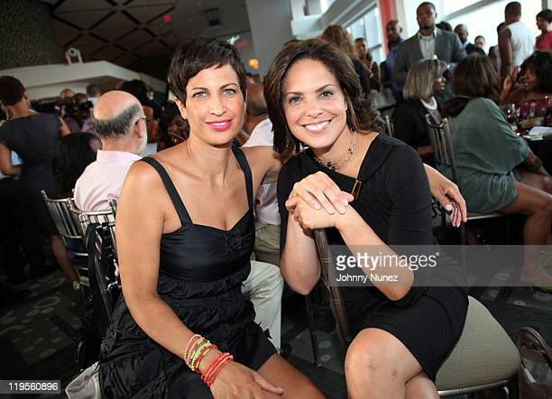 CNN Director of MultiCultural Sales and AdColor honoree Michele Thornton and TV personality and host Soledad O'Brien attend ADCOLOR Live at the Park...
