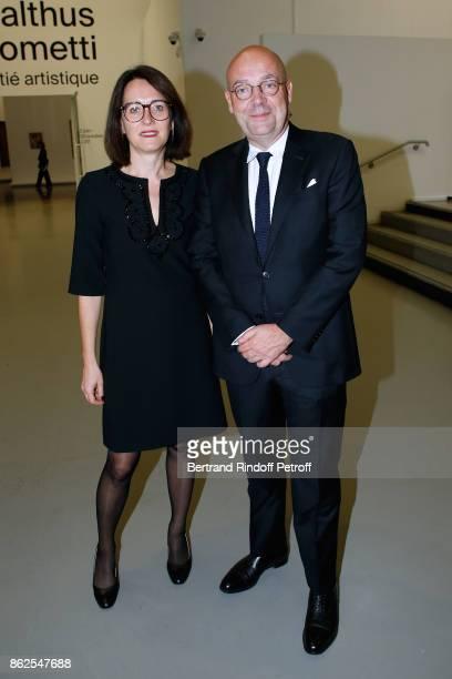 Director of 'Musee d'Art Moderne de la Ville de Paris' Fabrice Hergott and his assistant AnneSophie de Gasquet attend the 'Societe des Amis du Musee...