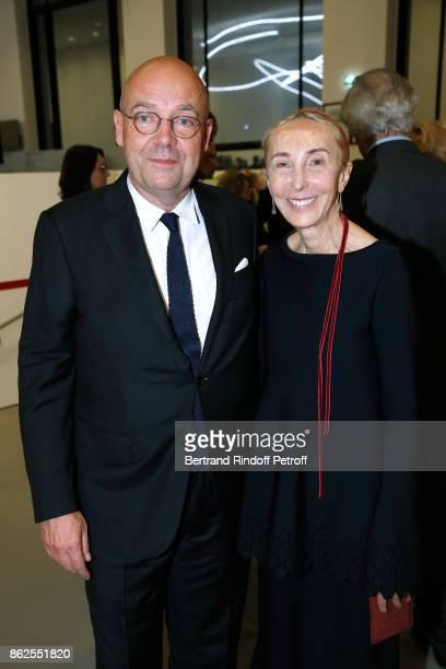 Director of 'Musee d'Art Moderne de la Ville de Paris' Fabrice Hergott and Carla Sozzani attend the 'Societe des Amis du Musee d'Art Moderne de la...