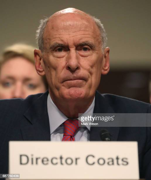 Director of National Intelligence Agency Dan Coats testifies during a Senate Armed Services Committee hearing on Capitol Hill on May 23 2017 in...