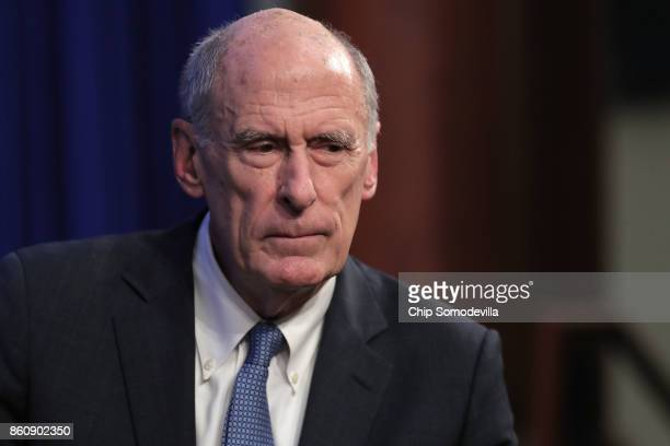 S Director of National Intelligence Dan Coats prepares to deliver remarks arguing for the renewal of Section 702 of the Foreign Intelligence...