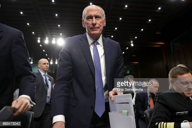 Director of National Intelligence Daniel Coats leaves after testifying before the Senate Intelligence Committee in the Hart Senate Office Building on...