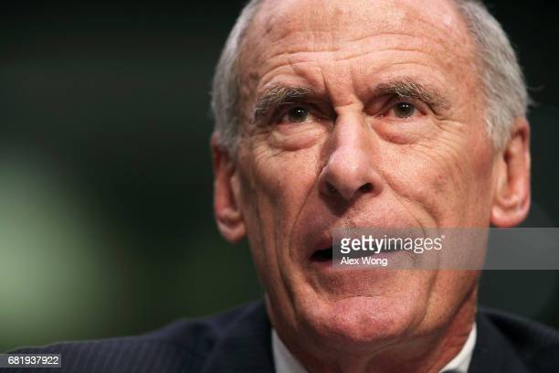 S Director of National Intelligence Daniel Coats testifies before the Senate Intelligence Committee with his fellow heads of the United States...