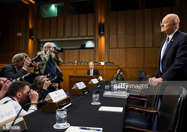 STATES FEB 9 Director of National Intelligence James Clapper is greeted by press photographers on Capitol Hill in Washington on Tuesday Feb 9 before...
