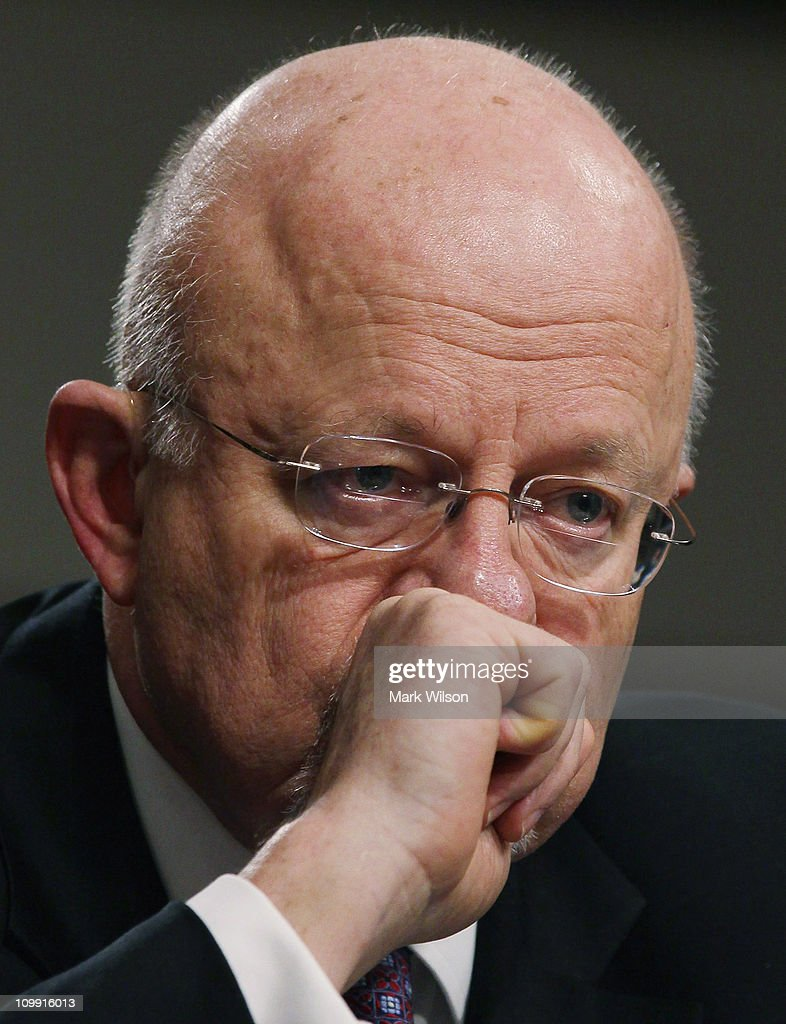 NIH Director Clapper Testifies At Hearing On Threats To Nat'l Security
