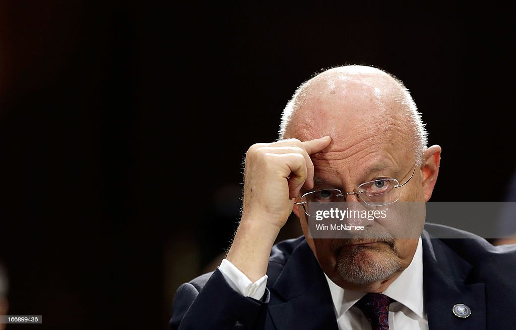Intelligence Director James Clapper Testifies To Senate Armed Services Committee