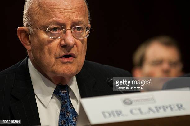 WASHINGTON DC FEBRUARY Director of National Intelligence James Clapper testifies before the Senate Intelligence Committee at the Hart Senate Building...