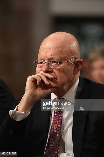Director of National Intelligence James Clapper testifies before the Senate Armed Services Committee in the Dirksen Senate Office Building on Capitol...