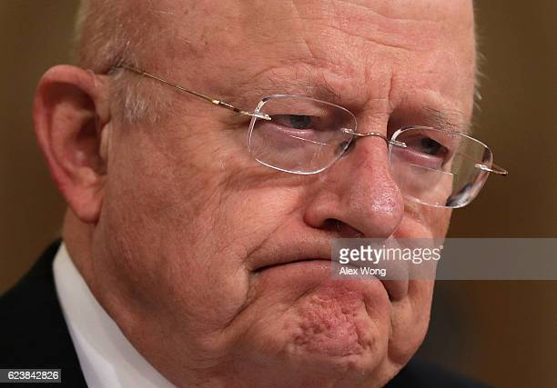 Director of National Intelligence James Clapper testifies during a hearing before the House Intelligence Committee November 17 2016 on Capitol Hill...