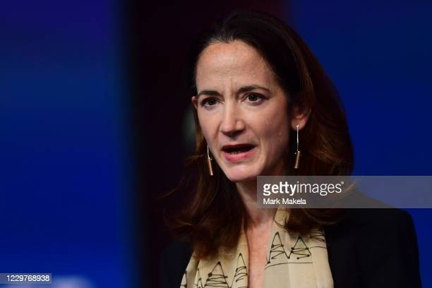 Director of National Intelligence nominee Avril Haines speaks after being introduced by Presidentelect Joe Biden as he introduces key foreign policy...