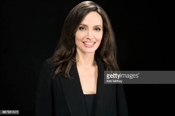 Director of Netflix's 'First They Killed My Father' Angelina Jolie is photographed for Los Angeles Times on November 10 2017 in Los Angeles...