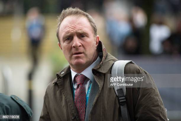 BBC Director of News and Current Affairs James Harding walks outside the Midland Hotel on the first day of the Conservative Party annual conference...