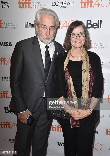 Director of news and social products at Google Richard Gingras and daughter of Dalton Trumbo Mitzi Trumbo attend the Trumbo premiere during the 2015...