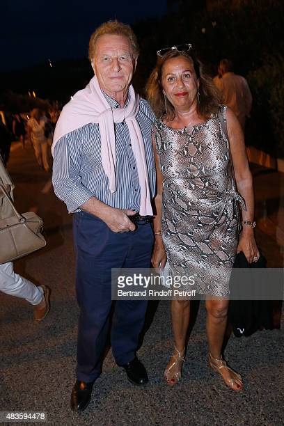 Director of Newspaper 'Var Matin' Robert Namias and his wife Anne Barrere attend the 'Fabrice Luchini Poesie ' show during the 31th Ramatuelle...