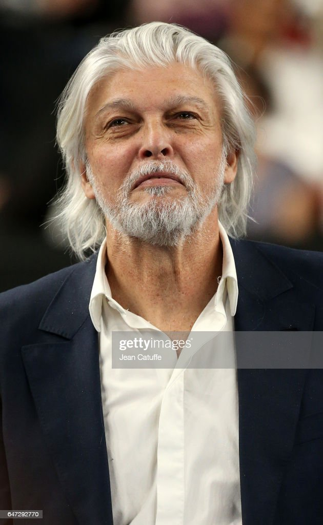 Director of Open 13 Jean-Francois Caujolle attends the trophy ceremony following the final of the Open 13, an ATP 250 tennis tournament at Palais des Sports on February 26, 2017 in Marseille, France.