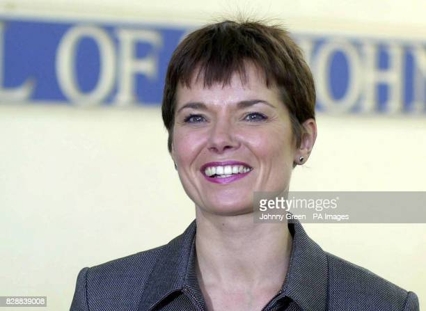 Director of Operations at the Hospital of St John and St Elizabeth Claire Hornick smiles as she announces the birth of former Beatle Paul McCartney...