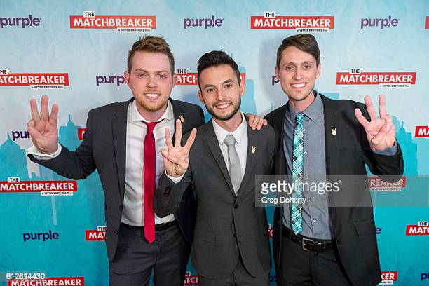 """Director of Photography Cory Vetter, Actor/Producer Wesley Elder and Director Caleb Vetter arrive for the Red Carpet Premiere Of Stadium Media's """"The..."""
