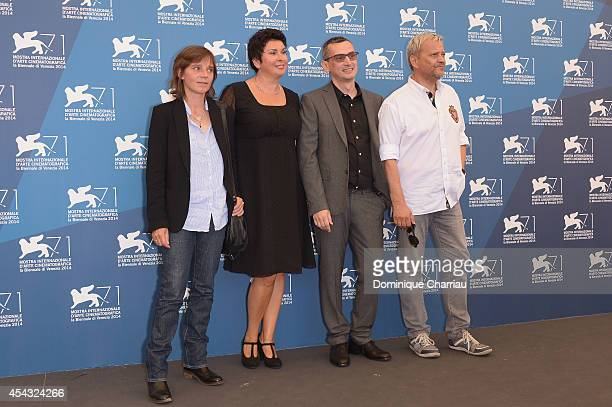 Director of photography Crystel Fournier, actress Jasna Zalica, director Ognjen Svilicic and actor Emir Hadzihafizbegovic attend the 'These Are The...