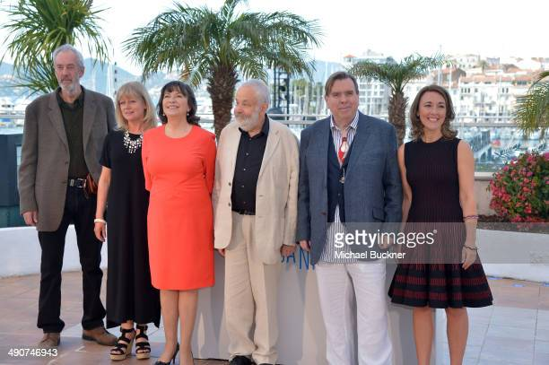 Director of Photography Dick Pope producer Georgina Lowe actress Marion Bailey director Mike Leigh actors Timothy Spall and Dorothy Atkinson attend...