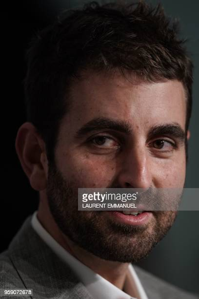 US director of photography Mike Gioulakis attends a press conference on May 16 2018 for the film 'Under the Silver Lake' at the 71st edition of the...