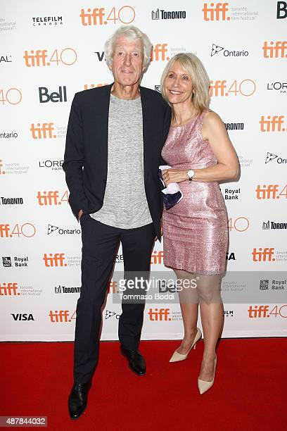 Director of photography Roger Deakins and Isabella James Purefoy Ellis attend the Sicario premiere during the 2015 Toronto International Film...