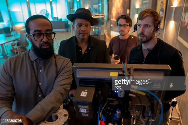 """Director of Photography T Maddox Upshaw and director Mario Van Peebles behind the scenes in the """"Got On My Knees To Pray"""" episode of EMPIRE airing..."""