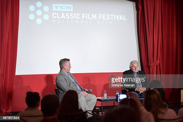 Director of Program Production Studio Production Programming Scott McGee and stunt coordinator Terry Leonard speak onstage during 'A Conversation...