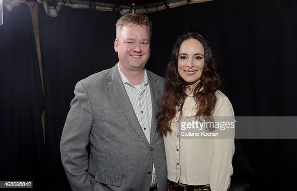 Director of Program Production, Studio Production & Programming Scott McGee and actress Madeleine Stowe attend the screening of 'The Philadelphia...