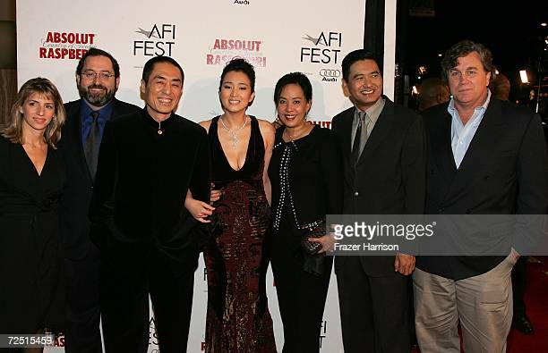 Director of Programming AFI Fest Nancy Collet Sony Pictures Classics coPresident Michael Barker director Zhang Yimou actress Gong Li Jasmine Chow...