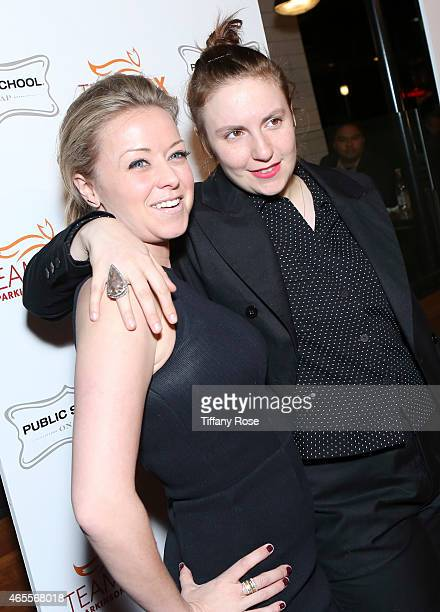 Director of Programming at HBO Kathleen McCaffrey and actress Lena Dunham attend Raising The Bar To End Parkinson's at Public School 818 on March 7...