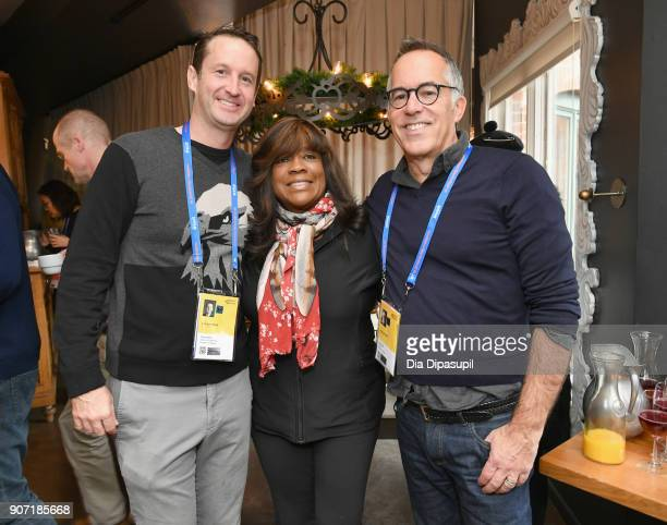 Director of Programming at Sundance Film Festival Trevor Groth Attorney Chaz Ebert and Director of Sundance Film Festival John Cooper attend the...