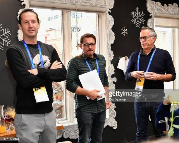 Director of Programming at Sundance Film Festival Trevor Groth Senior Programmer David Courier and Director of Sundance Film Festival John Cooper...