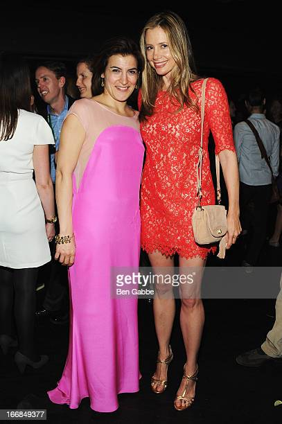 Director of Programming for Tribeca Film Festival Genna Terranova and Mira Sorvino attend the Opening Night After Party and Performance during the...