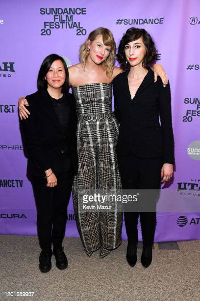Director of Programming of the Sundance Film Festival Kim Yutani Taylor Swift and Lana Wilson attend the Netflix premiere of Miss Americana at...