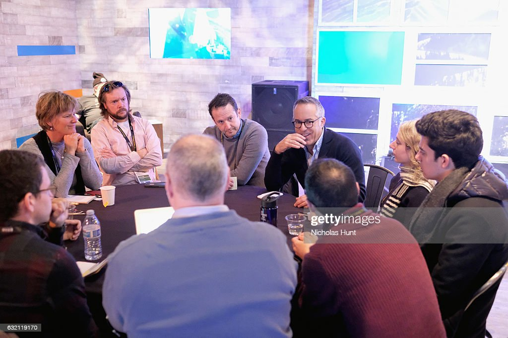 Director of Programming Trevor Groth and Director of Sundance Film Festival John Cooper speaks at the Press Junket Reception during day 1 of the 2017 Sundance Film Festival at Sundance House on January 19, 2017 in Park City, Utah.