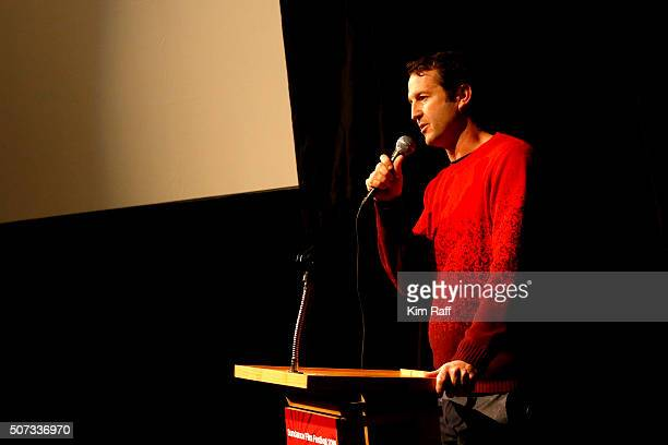 Director of Programming Trevor Groth speaks at Behind The Scenes Of Anomalisa during the 2016 Sundance Film Festival at Library Center Theater on...
