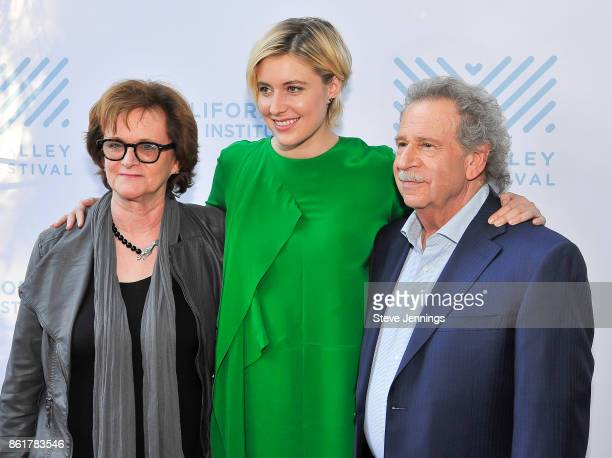MVFF Director of Programming Zoe Elton Actress Greta Gerwig and MVFF Founder Director Mark Fishkin attend the 40th Mill Valley Film Festival with...