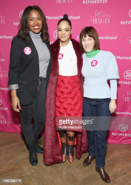 Director of Public Engagement PPFA Alencia Johnson juror and actor Tessa Thompson and Director of arts and entertainment engagement at PPFA Caren...