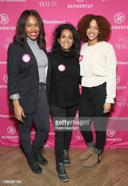Director of Public Engagement PPFA Alencia Johnson Nithya Raman and Michelle Jones attend the Parenthood Federation Of America Planned Parenthood...