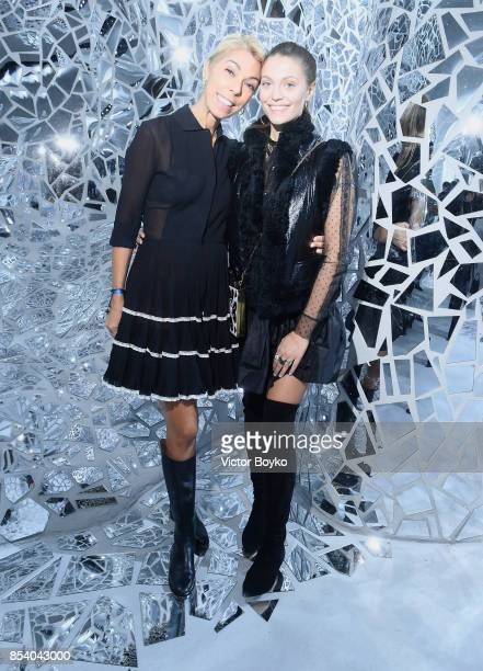 Director of Public Relations for France at Dior Mathilde Favier and her daughter Heloise Agostinelli attend the Christian Dior show as part of the...