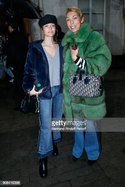 Director of Public Relations for France at Dior Mathilde Favier and her daughter Heloise Agostinelli attend the Azzedine Alaia Je Suis Couturier...