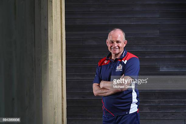 Director of Rugby Andy Robinson poses for a portrait during the Bristol Rugby squad photo call for the 20162017 Aviva Premiership Rugby season on...