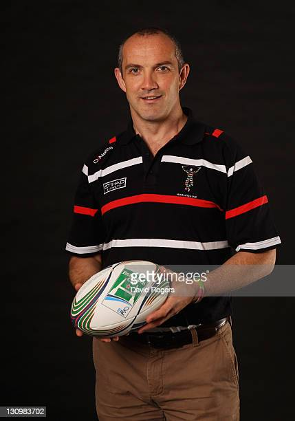 Director of Rugby Conor O'Shea of Harlequins attends the London Calling Heineken Cup Launch at Twickenham Stadium on October 31 2011 in London England