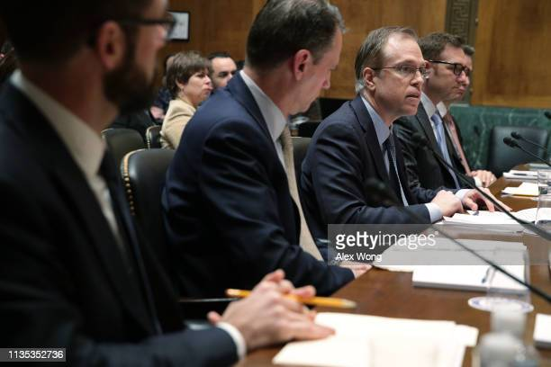 Director of security policy and global privacy officer for Intel David Hoffman testifies during a hearing before the Senate Judiciary Committee March...
