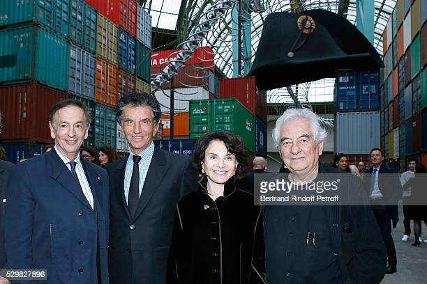 Director of sponsorship LVMH JeanPaul Claverie President of the 'Institut du Monde Arabe' Jack Lang his wife Monique and artist Daniel Buren attend...
