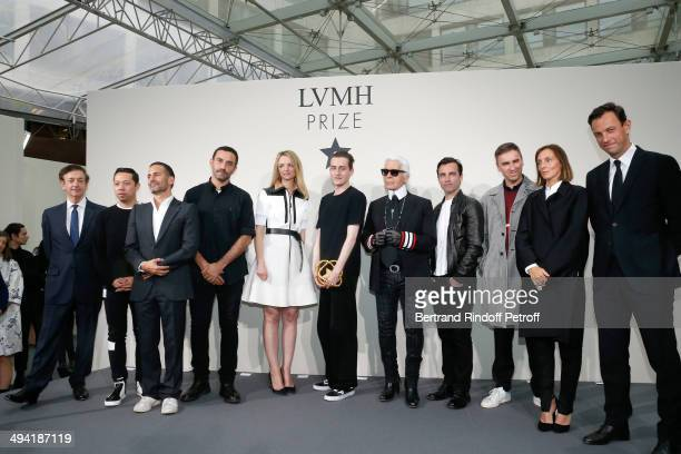 Director of sponsorship LVMH Jean-Paul Claverie, stylists guest, Marc Jacob, Riccardo Tisci, Initiator of the Price and Louis Vuitton's executive...