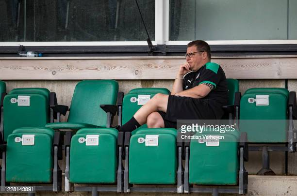 Director of Sport Max Eberl is seen during a Training session at the Training Camp of Borussia Moenchengladbach at Klosterpforte on August 21 2020 in...