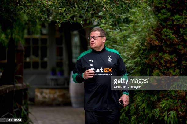 Director of Sport Max Eberl is seen during the Training Camp of Borussia Moenchengladbach at Klosterpforte on August 20 2020 in Marienfeld Germany