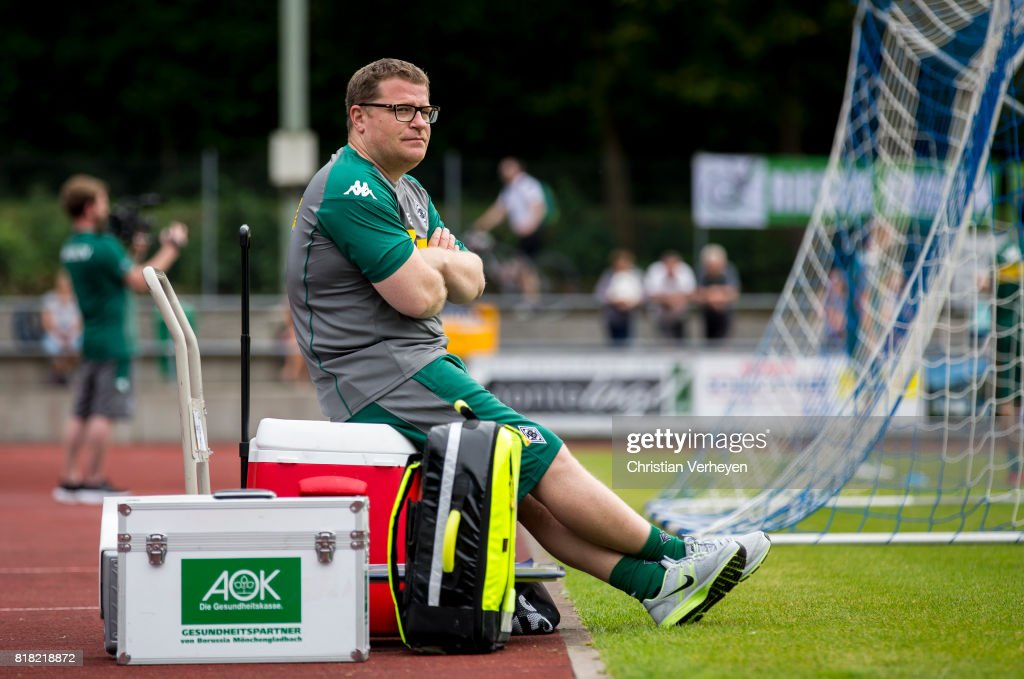 Director of Sport Max Eberl of Borussia Moenchengladbach during a training session at the Training Camp of Borussia Moenchengladbach on July 18, 2017 in Rottach-Egern, Germany.